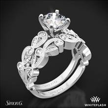 18k White Gold Simon G. TR473 Duchess Diamond Wedding Set | Whiteflash
