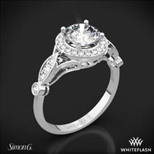 18k White Gold Simon G. TR523 Passion Halo Diamond Engagement Ring | Whiteflash