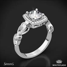 18k White Gold Simon G. TR526 Passion Halo Diamond Engagement Ring | Whiteflash