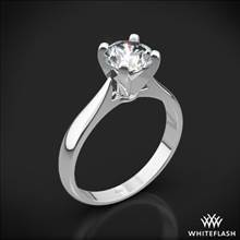 18k White Gold Sleek Line Solitaire Engagement Ring | Whiteflash