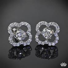 18k White Gold Small Clover Diamond Earring Jackets (0.60ctw; G/SI) | Whiteflash