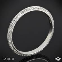 18k White Gold Tacori 2520ET Simply Tacori Knife-Edge Pave Diamond Wedding Ring | Whiteflash