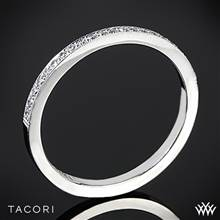 18k White Gold Tacori 2526 Ribbon Half Eternity Millgrain Diamond Wedding Ring | Whiteflash