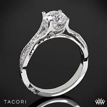 18k White Gold Tacori 2565SM Ribbon Diamond Engagement Ring | Whiteflash