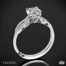 18k White Gold Tacori 2573SM Ribbon Split Shank Diamond Engagement Ring | Whiteflash