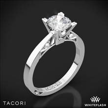 18k White Gold Tacori 2584RD Simply Tacori Flat-Edge Solitaire Engagement Ring | Whiteflash