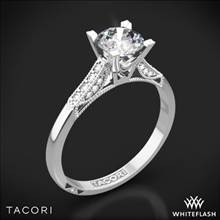 18k White Gold Tacori 2586RD Simply Tacori Pave Complete Diamond Engagement Ring with 0.75ct Diamond Center | Whiteflash