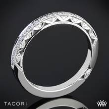 18k White Gold Tacori 2616B Classic Crescent Pave Half Eternity Diamond Wedding Ring | Whiteflash