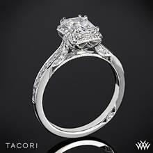 18k White Gold Tacori 2620ECSM Dantela Crown for Emerald Diamond Engagement Ring | Whiteflash