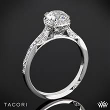 18k White Gold Tacori 2620RDP Dantela Crown Diamond Engagement Ring (0.24ctw, For 0.75ct Center Diamond) | Whiteflash