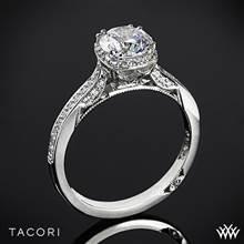 18k White Gold Tacori 2620RDP Dantela Crown Diamond Engagement Ring (0.25ctw, For 1ct Center Diamond) | Whiteflash