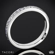 18k White Gold Tacori 2630BLG P Dantela Eternity Large Pave Diamond Wedding Ring | Whiteflash