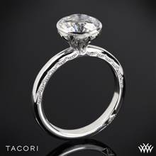 18k White Gold Tacori 300-2.5RD Starlit Classic Bezel Solitaire Engagement Ring | Whiteflash