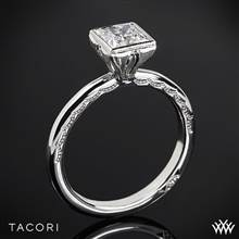 18k White Gold Tacori 300-2PR Starlit Petite Princess Solitaire Engagement Ring | Whiteflash