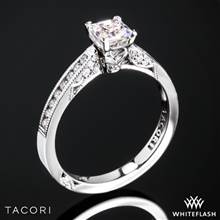 18k White Gold Tacori 3003 Simply Tacori Diamond Engagement Ring for Princess with 0.50ct Diamond Center | Whiteflash