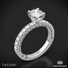 18k White Gold Tacori 33-2RD Clean Crescent Half Eternity Diamond Engagement Ring | Whiteflash