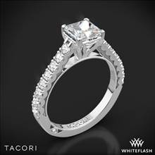 18k White Gold Tacori 35-2PR Clean Crescent Diamond Engagement Ring | Whiteflash