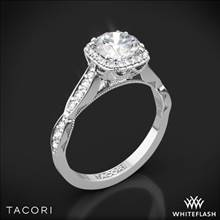 18k White Gold Tacori 39-2CU Sculpted Crescent Ribbon Diamond Engagement Ring | Whiteflash
