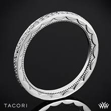 18k White Gold Tacori 41-1.5ET Sculpted Crescent Eternity Diamond Wedding Ring | Whiteflash