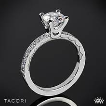 18k White Gold Tacori 41-2.5RD Sculpted Crescent Half Eternity Large Diamond Engagement Ring | Whiteflash