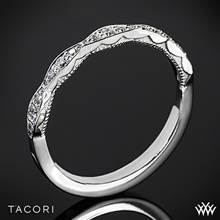 18k White Gold Tacori 46-2 Sculpted Crescent Diamond Wedding Ring | Whiteflash
