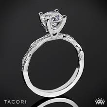 18k White Gold Tacori 46-2RD Sculpted Crescent Diamond Engagement Ring | Whiteflash