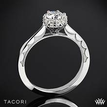 18k White Gold Tacori 59-2RD Sculpted Crescent Harmony Solitaire Engagement Ring for 0.50ct center | Whiteflash