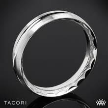 18k White Gold Tacori 72-5WS Sculpted Crescent Satin Wedding Ring | Whiteflash