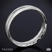 18k White Gold Tacori 76-5 Sculpted Crescent Mesh Wedding Ring | Whiteflash