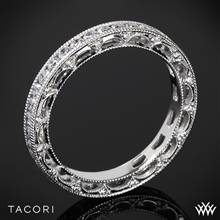 18k White Gold Tacori HT2510B Reverse Crescent Eternity Star Diamond Wedding Ring | Whiteflash