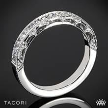 18k White Gold Tacori HT2510B Reverse Crescent Half Eternity Star Diamond Wedding Ring | Whiteflash