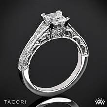 18k White Gold Tacori HT2510PR Reverse Crescent Graduated for Princess | Whiteflash