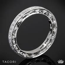 18k White Gold Tacori HT2510PRB Reverse Crescent Eternity Princess Star Diamond Wedding Ring | Whiteflash