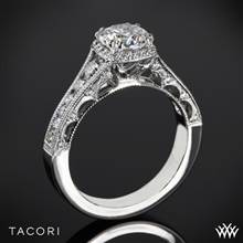 18k White Gold Tacori HT2515RD Reverse Crescent Contemporary Diamond Engagement Ring | Whiteflash