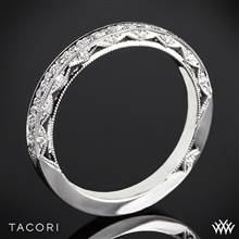 18k White Gold Tacori HT2516B Blooming Beauties Half Eternity Diamond Wedding Ring | Whiteflash