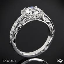 18k White Gold Tacori HT2520CU Blooming Beauties Diamond Engagement Ring | Whiteflash