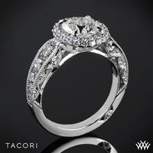 18k White Gold Tacori HT2521RD Blooming Beauties Double Bloom Diamond Engagement Ring | Whiteflash