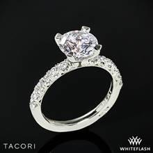 18k White Gold Tacori HT2545 Petite Crescent Scalloped Millgrain Diamond Engagement Ring | Whiteflash