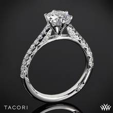 18k White Gold Tacori HT2546RD Petite Crescent Enchantment Diamond Engagement Ring | Whiteflash
