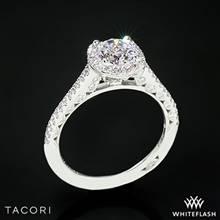 18k White Gold Tacori HT2547 Petite Crescent Celestial Diamond Engagement Ring | Whiteflash