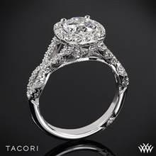 18k White Gold Tacori HT2549CU Petite Crescent Twisted Diamond Engagement Ring | Whiteflash