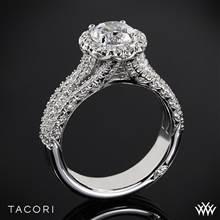 18k White Gold Tacori HT2551RD Petite Crescent Triple Row Diamond Engagement Ring | Whiteflash