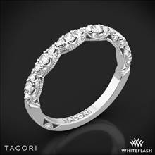 18k White Gold Tacori HT2558B12 Petite Crescent Diamond Wedding Ring | Whiteflash