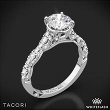 18k White Gold Tacori HT2558RD Petite Crescent Diamond Engagement Ring | Whiteflash