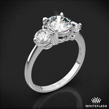 18k White Gold Trois Brilliant 3 Stone Engagement Ring (Setting Only) | Whiteflash