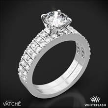 18k White Gold Vatche 1003 5th Ave Pave Diamond Wedding Set | Whiteflash