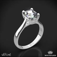 18k White Gold Vatche 1019 Royal Crown Solitaire Engagement Ring for Princess | Whiteflash