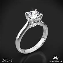 18k White Gold Vatche 1025 X-Prong Surprise Solitaire Engagement Ring | Whiteflash