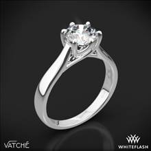 18k White Gold Vatche 119 Royal Crown Solitaire Engagement Ring | Whiteflash