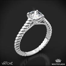 18k White Gold Vatche 1500 Splendor Solitaire Engagement Ring | Whiteflash